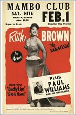 ruth brown aka THE MAMA GIRL vintage concert poster MAMBO CLUB FEB. 1 24X36