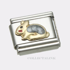Original Clessidra Italy Nomination 18k Grey Rabbit Charm