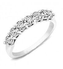 0.75CT Round Brilliant Cut Wedding Ring 14k White Gold
