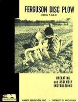 Massey Ferguson P AO 21 Disc Plow Operators Manual