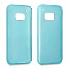 Hybrid Slim Fitted Rubber TPU GEL Skin Case Cover for HTC One M9 - Blue