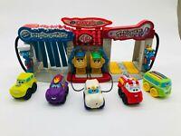 Tonka Lil Chuck's Talkin Truck Stop Hasbro Talking Light Up Toy Garage