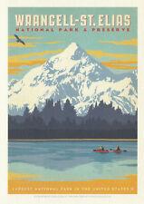 Wrancell St. Elias National Park Poster Art Postcard Alaska Postcard