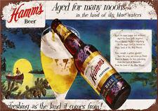 Metal Tin Sign beer hamm's  Pub Home Vintage Retro Poster Cafe ART