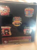 San Fransisco Super Bowl 5 Pin Set Series 2 Sealed Football NFL Limited Ed