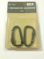 Set de 2 MOUSQUETON EN ALUMINIUM Diamètre: 6 mm