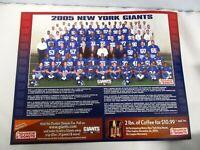 2005 DUNKIN DONUTS NEW YORK GIANTS TEAM PHOTO