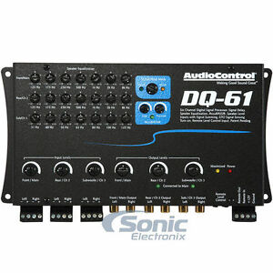 AudioControl DQ61 6 Channel Equalizer/Line Output Converter w/ AccuBass