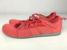 Clarks Privo Strappy Ballet Poppy Bloom Casual Mary Jane Flats Coral Womens 11M