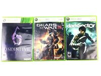 Lot of 3 Microsoft Xbox 360 Games Resident Evil 6 Gears of War & Dark Sector