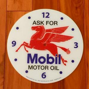 """NEW 14-3/8"""" Mobil Motor Oil Round Replacement Face for Pam Clock"""