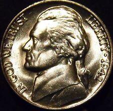 1942-P Jefferson Nickel Choice/Gem BU Uncirculated