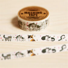 Popular Lovely Cat  DIY decoration scrapbooking planner adhesive tape BH