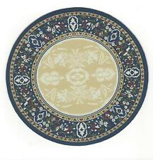 ROUND WOVEN RUG A BEAUTY DOLL HOUSE FURNITURE MINIATURE