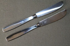 TWO 2 WMF Cromargan LINE Stainless DINNER KNIVES Professionally polished!
