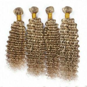 8#/613 BALAYAGE 12AA BRAZILIAN VIRGIN HUMAN HAIR DEEP WAVE CURL 300g/400g/500g