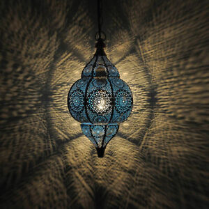 Moroccan Blue Turkish Hanging Lamps Ceiling Lights Fixture Home Lantern Gifts