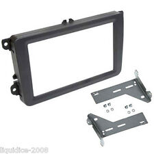 CT24VW12 VOLKSWAGEN SAGITAR 2005 - 2011 BLACK DOUBLE DIN FASCIA FRAME & BRACKETS