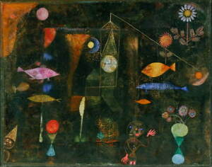 Paul Klee Fish Magic Poster Reproduction Paintings Giclee Canvas Print