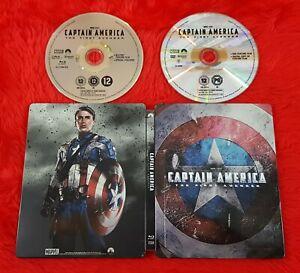 blu-ray CAPTAIN AMERICA The First Avenger Steelbook *y UK REGION FREE Marvel