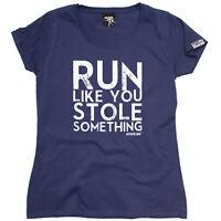 Running Tops T-Shirt Funny Novelty Womens tee TShirt - Run Like You Stole Someth