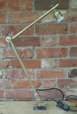 Fabulous Vintage Brass 2 Arm Adjustable Machinist Desk Work Lamp/Light REWIRED