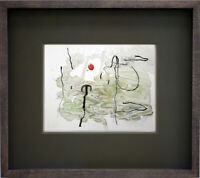 Joan MIRO Limited EDITION Lithograph Watercolor 1963 w/Cat Ref. c82 w/Frame