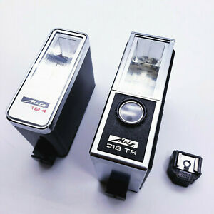 Vintage METZ Mecablitz 218 L27 TR and Metz 184 Flash w/ Canon Hot Shoe Adaptor