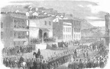 San Francisco. Lynch Mob tomando prisioneros a la cárcel, antiguo de impresión, 1856