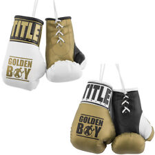 "Title Boxing 5"" Authentic Detailed ""Golden Boy"" Mini Lace Up Gloves"