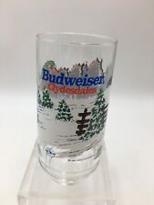 Budweiser Clydesdale Christmas Glass 1995 Official