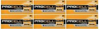 NEW DURACELL PROCELL AA 1.5V ALKALINE BATTERIES 144 (6 BOXES OF 24)