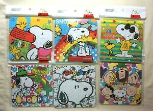 "Six Pieces New Peanuts Japan Snoopy 20 Pieces Jigsaw Puzzles 5.5"" x 5.5"""