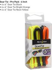 """Nite Ize Tough Rubber Gear Tie Pro Pack 6"""" Inch Assorted Pack Of 12 GTPP6-A1-R8"""