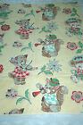 Vintage Baby Crib Quilt Appalachian Handmade Cute Animals Outline Quilted 44x35