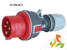 16A 400V  4 Pin Red Trailing Plug 3pin +E 3 Phase commando plug