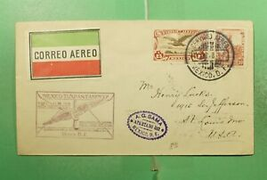 DR WHO 1928 MEXICO FIRST FLIGHT TUXPAN TO TAMPICO  g15331