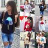 Women's Plush Pom Pom Ball Jumper Tops Sweatshirt Casual Pullover Hoodie Blouse