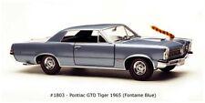 1965 Pontiac GTO - Tiger Fontaine Blue 1:18 Scale