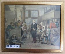 ANTICA STAMPA A COLORI DA UN DIPINTO DI TIDEMAND NORVEGIA NORWAY DEL 1845 R114
