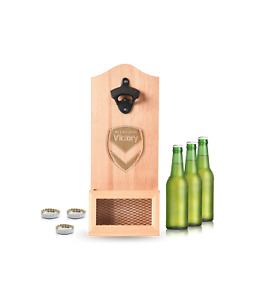 A-League Melbourne Victory Wall Mounted Wooden Bottle Opener