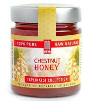 Chestnut Raw Honey (10.5 Ounce); Natural Wildflower Honey from Rep. of Georgia