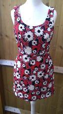 ZARA Woman Trafaluc Collection Floral Printed Dress Summer Sleeveless Small