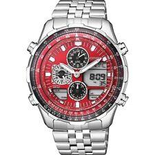 CITIZEN JN0120-85X Promaster Navihawk Quartz Red Dial 100m Men's Pilot Watch
