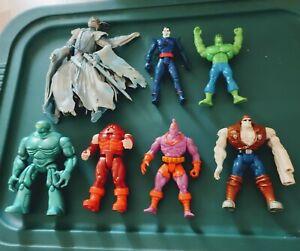 Vintage 1990'S Assorted Lot of (7) Marvel Action Figures