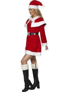 MISS SANTA FLEECE COSTUME, CHRISTMAS FANCY DRESS, MEDIUM 12-14, WOMENS