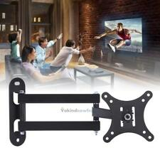 LCD TV Stand Display Swivel Bracket Rack Flat Retractable Wall Mount 10''-32''