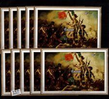 /// 10X RWANDA - MNH - FRANCE - WAR - PAINTING - NUDE
