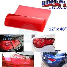 "1x 12"" x 48"" Glossy Red Vinyl Wrap Sheet Film For Tail Lamps Lights Sidemarkers"