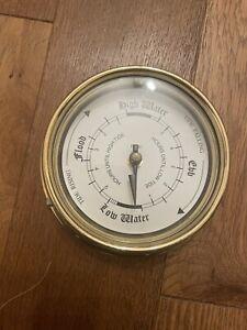 Tidenuhr, Ship's Clock, Maritime Tide Watch IN Brass Case Tabic Ltd